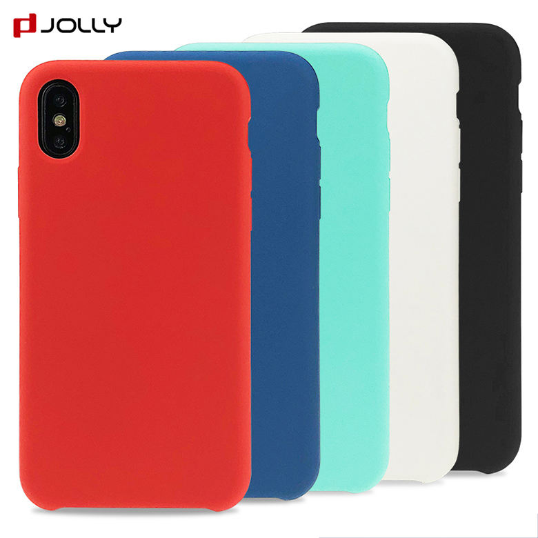 Slim Fit Microfiber Cloth Lining Cushion Liquid Silicone Phone Case For iPhone X XS XS MAX XR