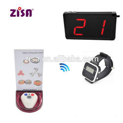 zisacall wireless call button with base , guest paging system , restaurant Kitchen equipment waiter calling system