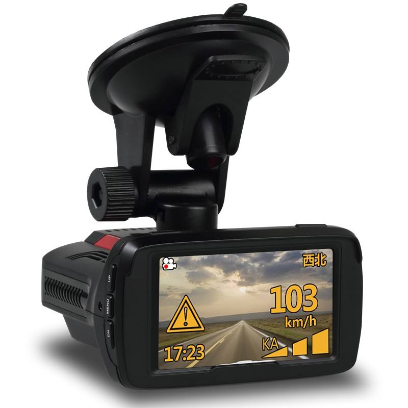 1080P Multifunctionele Auto Snelheid Recorder 3 In 1 Radar Detector Dash Cam
