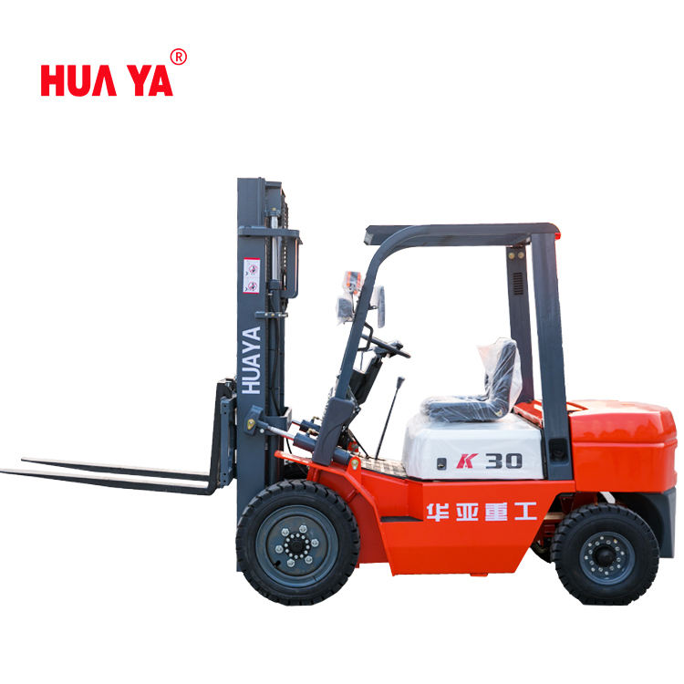 Diesel forklift 3 tons lift 3 meters pneumatic tire