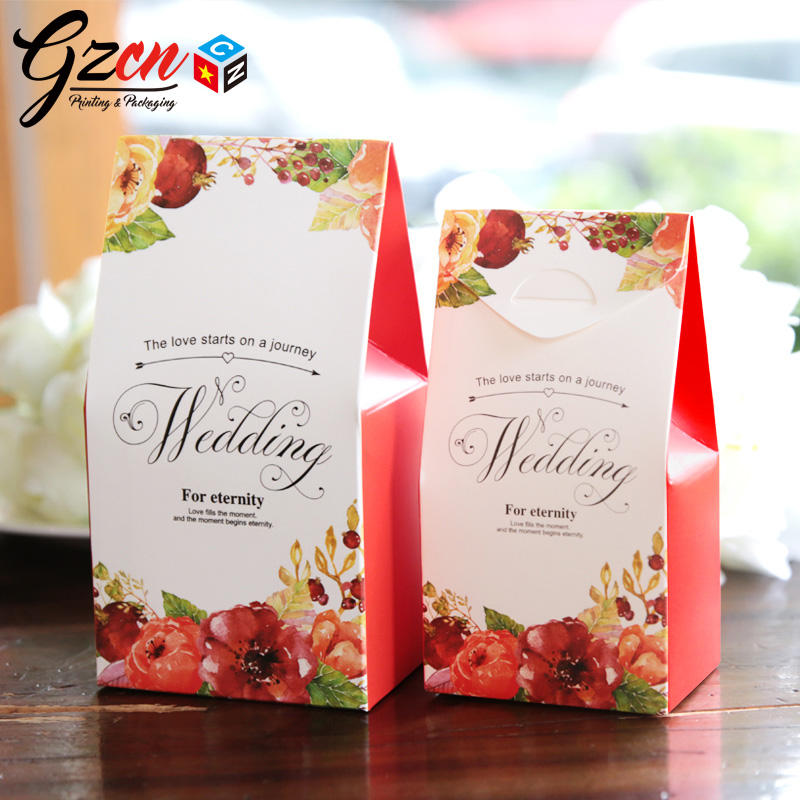 Wholesale custom cheap price small mini size with folded top red color indian wedding gift bag