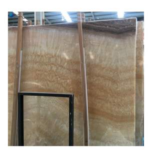 2cm thickness yellow onyx marble slab