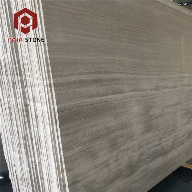 Chinese popular white wood marble grey wooden vein floor tiles and slabs
