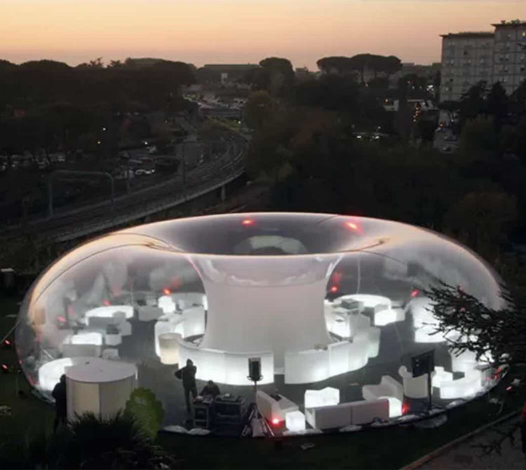 Large transparent Dome for advertising 0.8mm clear PVC inflatable pub/party air tent