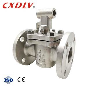 2 Way Flanged Sleeved Plug Valves Soft Sealing Lubricated Tufline Manual Operator WCB 150LB DN50
