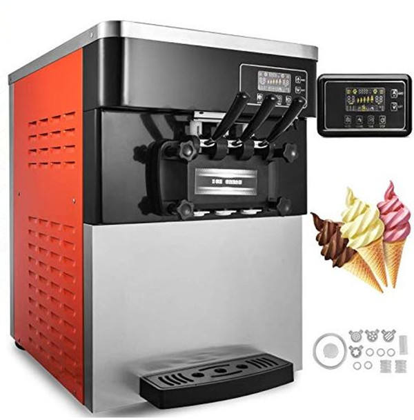 Three flavor soft ice cream machine soft serve ice cream making machine factory price
