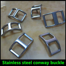 stainless steel conway buckle for leather belt