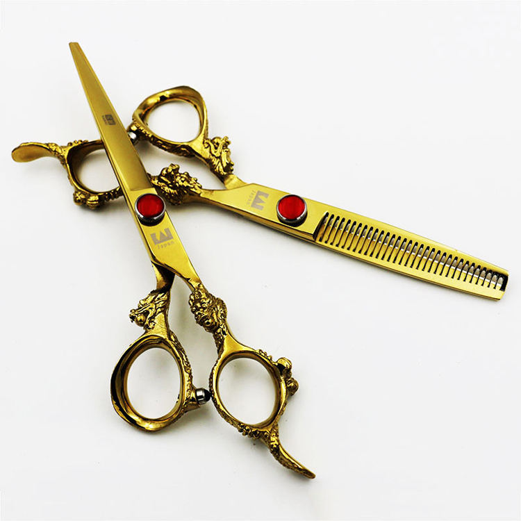 Hot sale professional best hair cutting scissors custom gold barber scissor