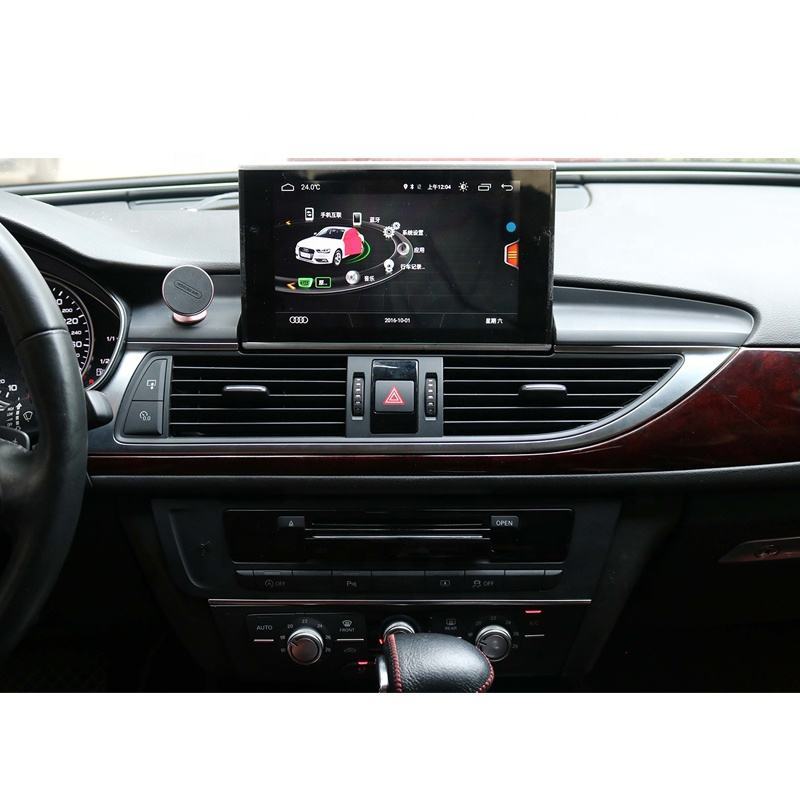 Aud ich A6 navigation touch screen 4G <span class=keywords><strong>RAM</strong></span> 64G ROM head unit radio GPS display dash multimedia player