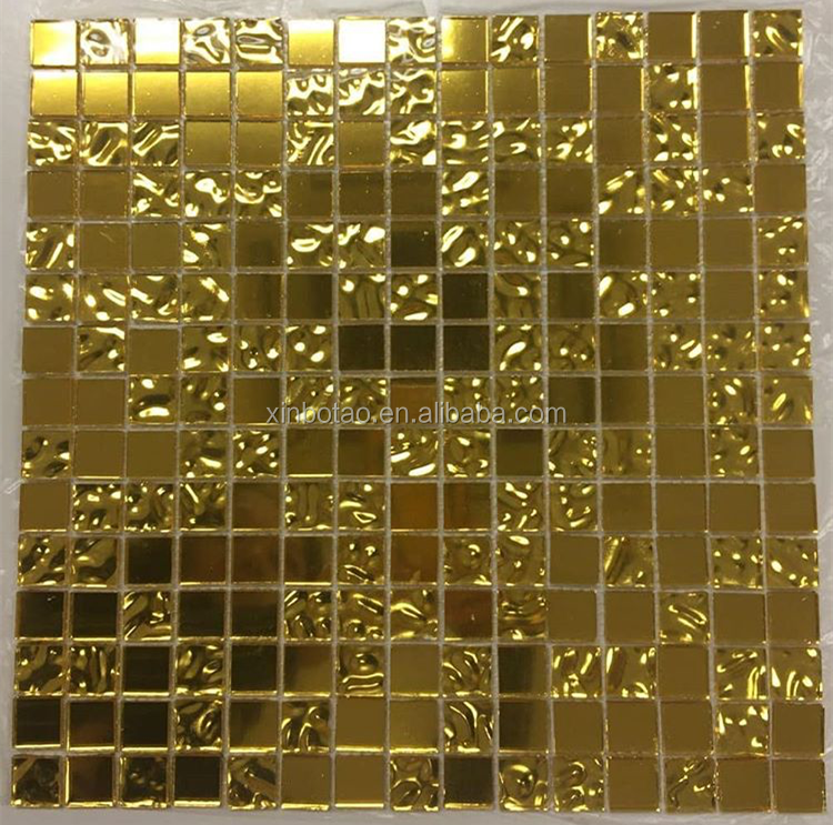 China Suppliers Gold Glass Mirror Mosaic Wall Tiles