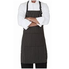 Amazon hot sale black strips kitchen cooking apron