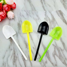 Disposable ice cream jelly scoops shaved ice spoons creative potted cake cup small spoons wholesale