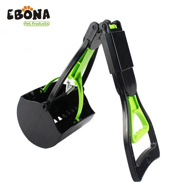 High quality long handle dog poop collector, pet grooming tool foldable dog poop scooper