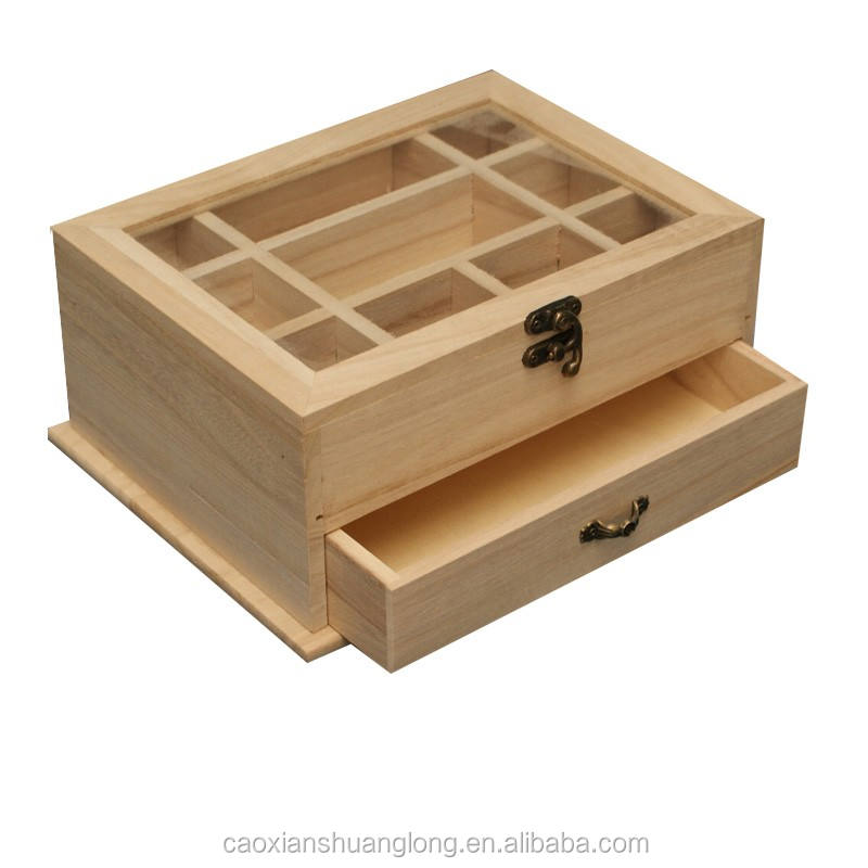 New Design Packaging Wooden Box MDF Gift Wood Box Small