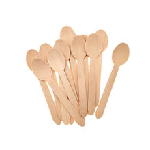 160mm Biodegradable Disposable Custom Eco-friendly Birch Wood Spoon Bulk Cheap