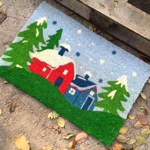 Outside Eco Friendly Printing Machine Coir Door Mat