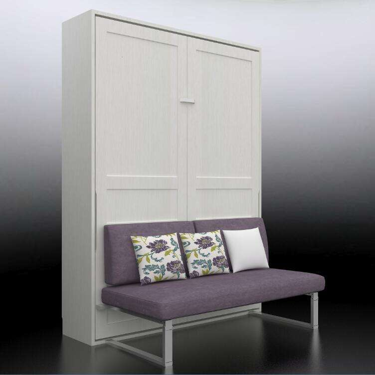 QF154/SF queen size hideaway murphy wall bed with sofa