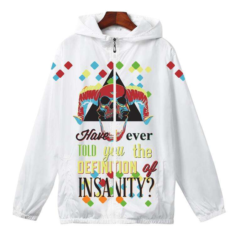 Yiwa Mens Hooded Sweater Personalized Letter Printed Casual Mens Coat