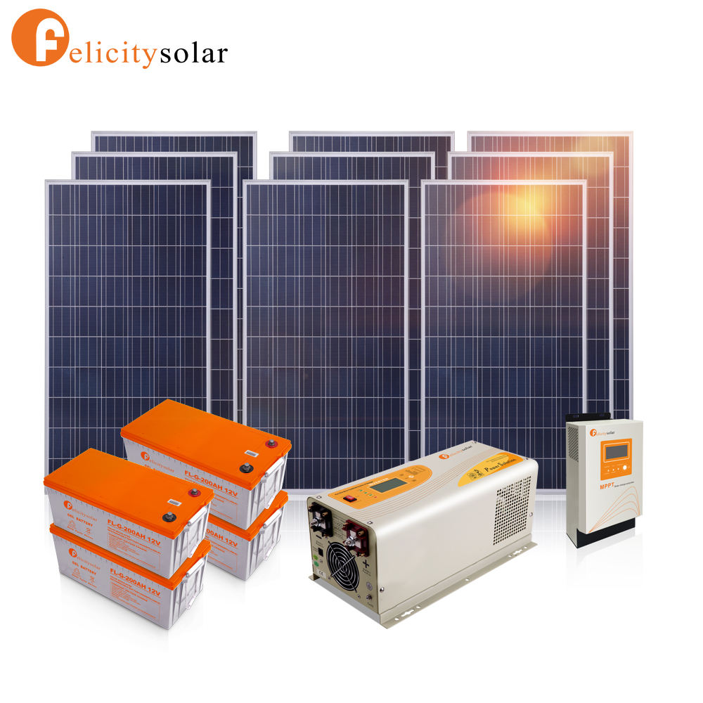 Best design easy install 3000 watt home solar systems for Sierra Leone