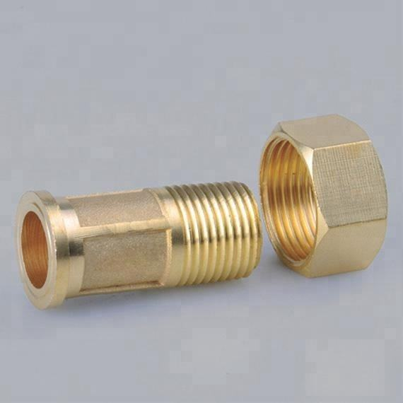 China supplier copper gas meter fitting with nut and oring