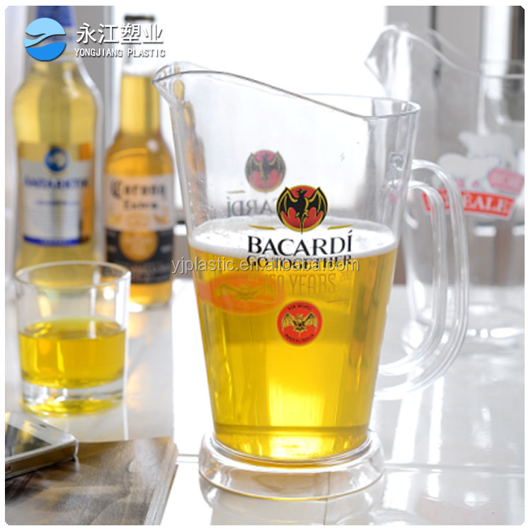 1.75L ps clear drink plastic beer pitcher