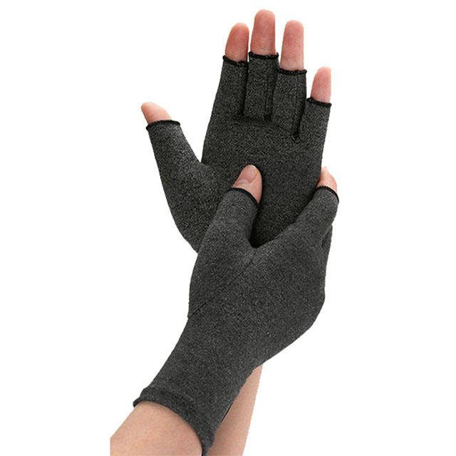 Compression Magnetic Therapy Computer Typing Fingerless Arthritis Gloves