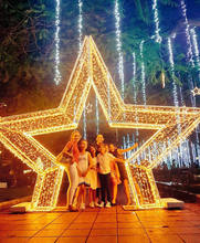 Giant outdoor led christmas star