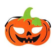 Halloween Eve Party Supplies Kids Scary Pumpkin Halloween Felt Mask with Customized Design