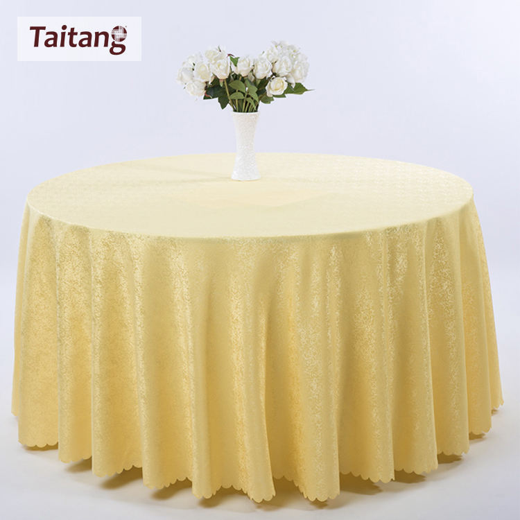 High Quality Best Sale Round Cheap Polyester Restaurant Chair Cover And table Cloth for 6 feet round table