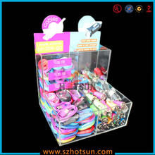 Retail display acrylic shop display stand for mobile accessories with dividers