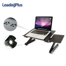 Executive Office Solutions Portable Adjustable Aluminum Laptop Desk/Stand/Table Vented w/CPU Fans Mouse Pad