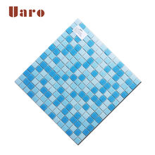 20mm swimming pool glass tile cheap stock mosaic