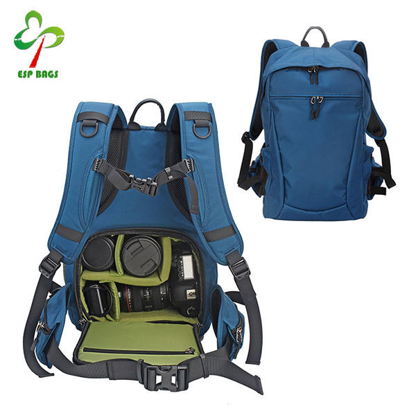 XIAMEND Canvas Backpack Anti-Shock SLR//DSLR Camera Bag Vintage Camera Backpack with Rain Cover Camera Rucksack for Travel Hiking Outdoor Color : Green