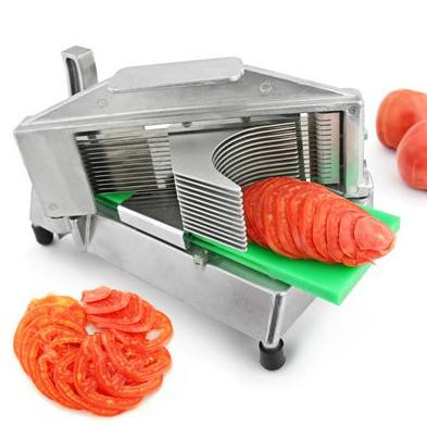 stainless steel kitchen use onion tomato slicer machine / fruit slicing machine
