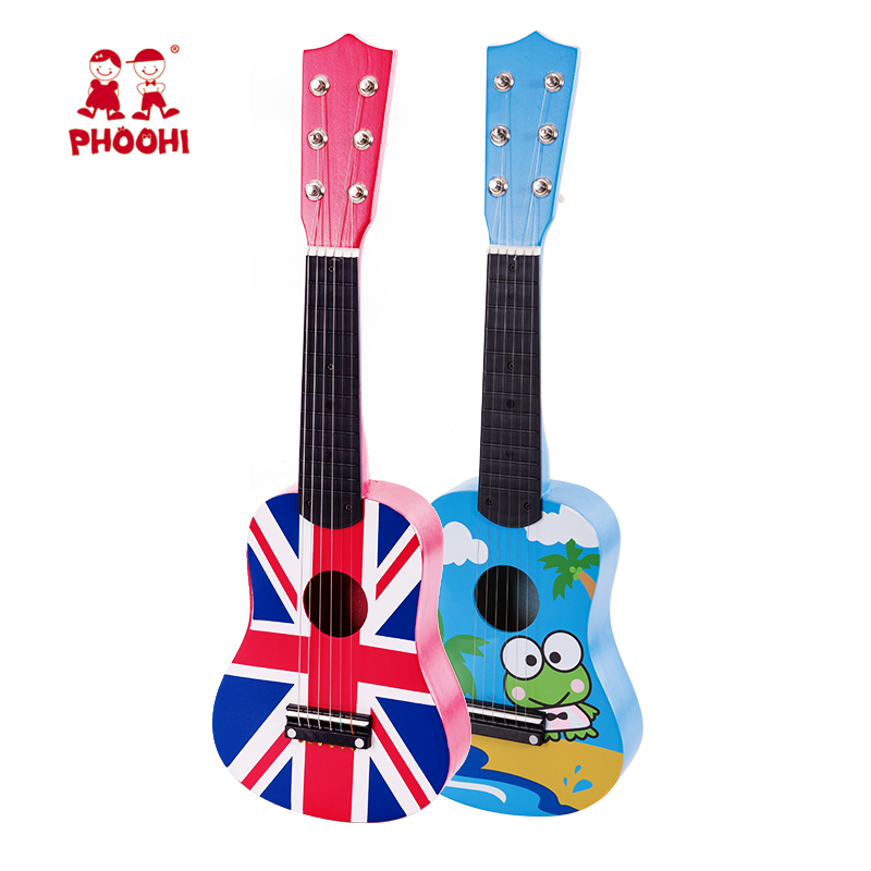 New arrival musical instrument play toy frog wooden children guitar for kids