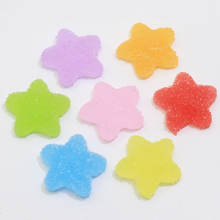 100pcs Flatback Resin Cabochons Simulation Food Cute Pentagram Shaped QQ Gummy Candy For DIY Dollhouse Miniature Deco Parts