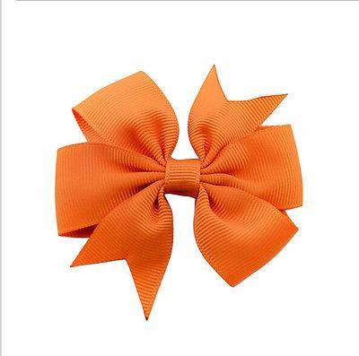 Custom With Logo 1.5 MM Beautiful Grosgrain Ribbon Printing Ribbons Flower and Silk Bow knot for Girls Bow with Clip