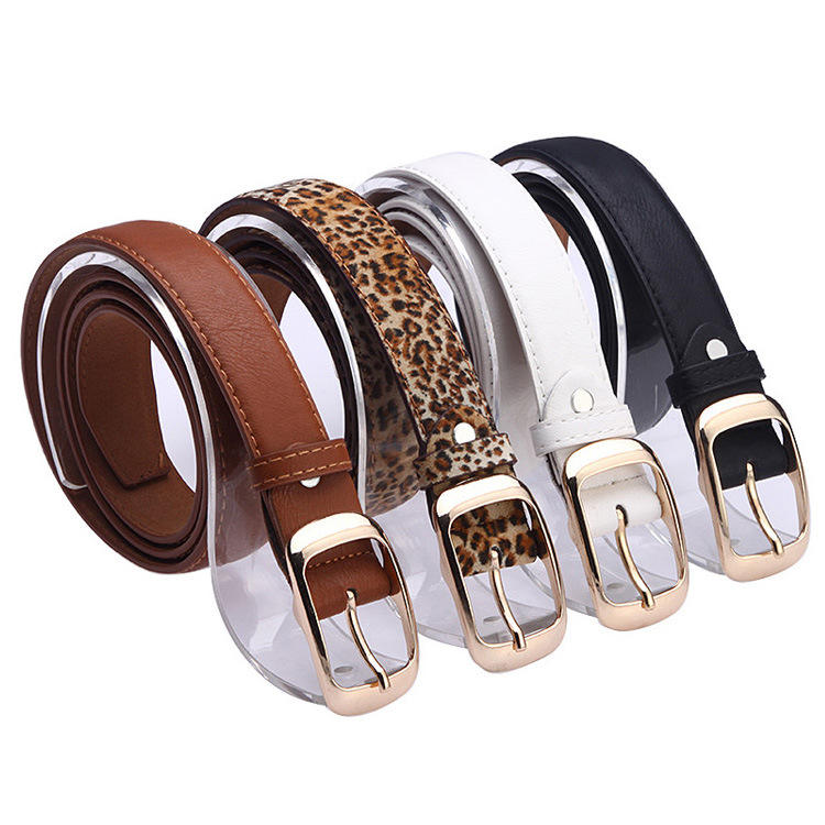 114*2.9CM New Arrival Leather Belt Woman Top Quality Belts for Women Cinto Feminino Black White Brown Leopard Belt Strap