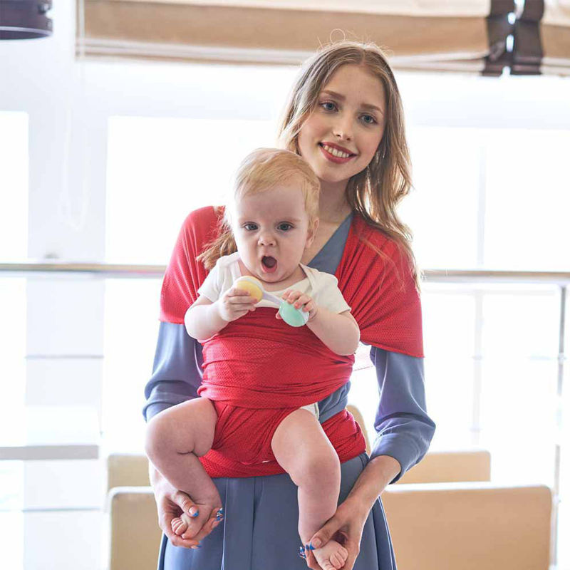 Original Soft Cotton Knit Baby Sling Perfect for Baby, Breathable Soft and Stretchy Multiple Ways to Wear Baby Wrap Carrier