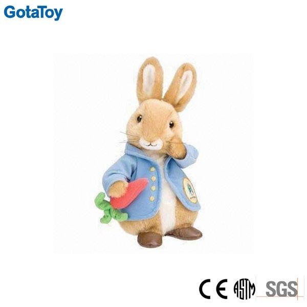 Factory China custom plush rabbit with carrot stuffed soft toy