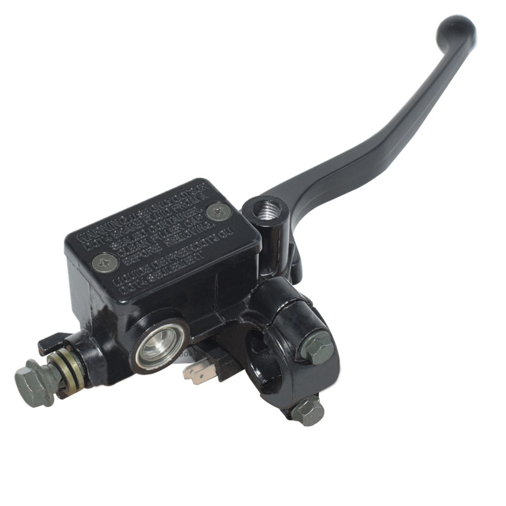 "7/8"" 22mm Universal Front Motorcycle Brake Clutch Master Cylinder Reservoir Levers Hydraulic Brake Pump Black"