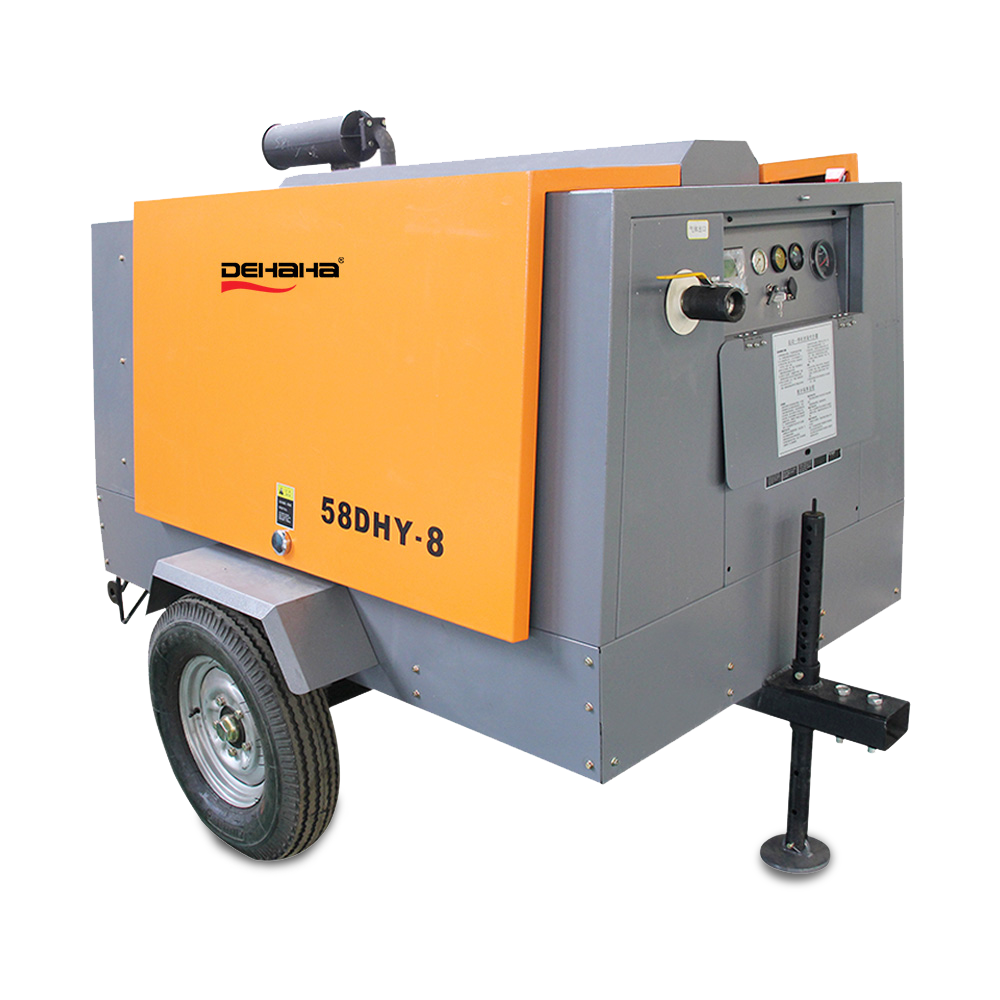DHH 300 cfm diesel mobile air compressor for drill rig