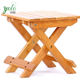 Portable Outdoor wood Foldable Fishing Stool Shower Seat bench bamboo folding chair