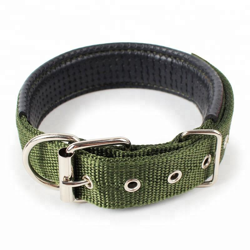 Comfortable Soft Padded Dog Collar for Small Medium Large Dogs Black Red Green Blue Adjustable Nylon Pet Collars