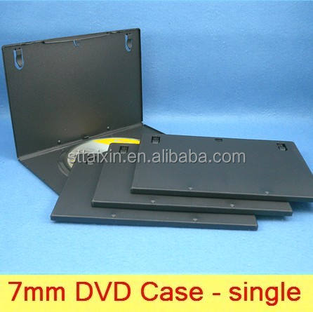 7mm black single/double plastic dvd case south america