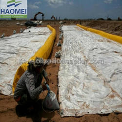 PVC solid float oil spill containment boom and silt curtain