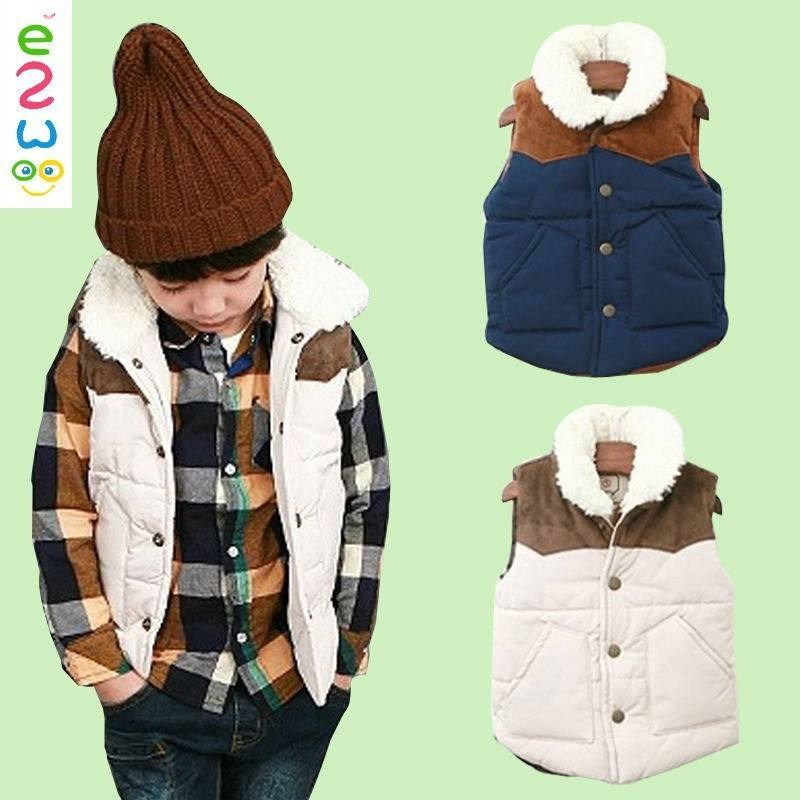 Best Selling Products Kid Boy Wear Clothes Winter Warm Fur Vest For Children