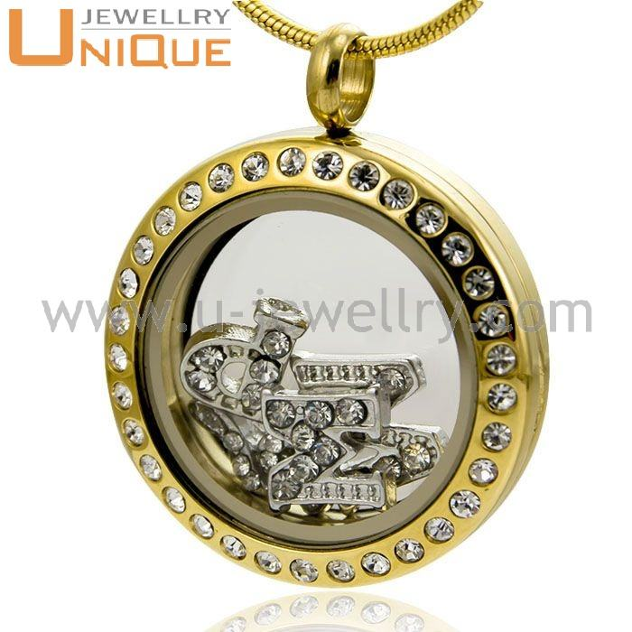 Locket [ Charm ] 316l Stainless Steel Material Gold Plated Bulk Locket Charm For Sale
