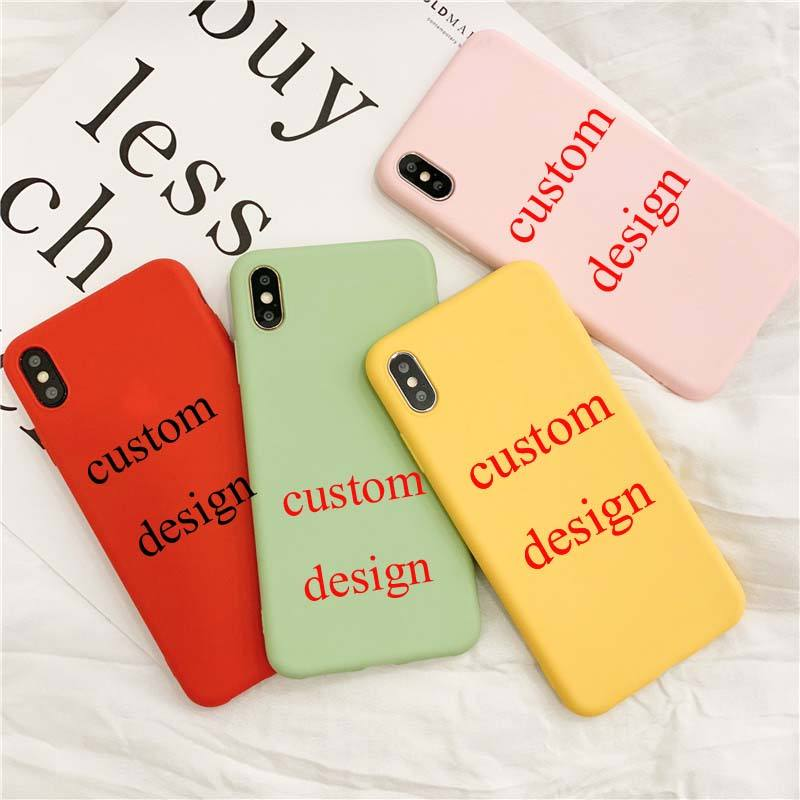 2019 new arrivals Custom Telefoon Gevallen voor iphone X Case mobiele telefoon acces voor iphone xr xs 6 7 8 case Solid TPU Soft Case