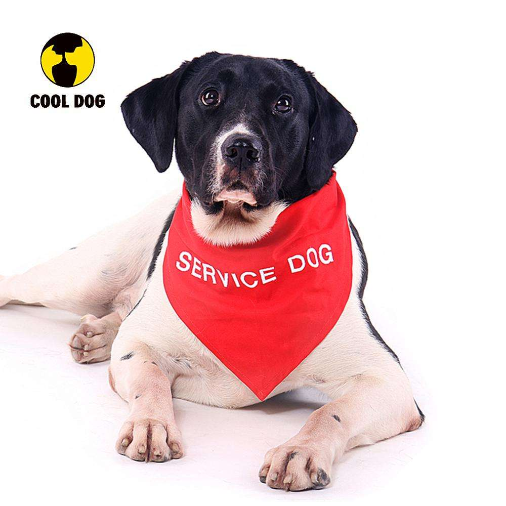 Wholesale Reflective Personalized Embroidered Pet Dog Collar Bandana For Service Dog